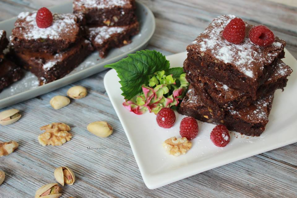 Ořechovo pistáciové Brownies